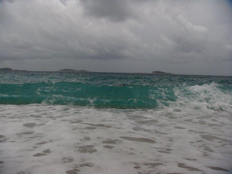 Pozdrav od moře - to uprostřed fotografie (co není téměř vidět) je moje maličkost