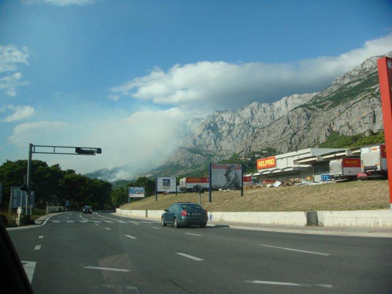 Požár Makarska